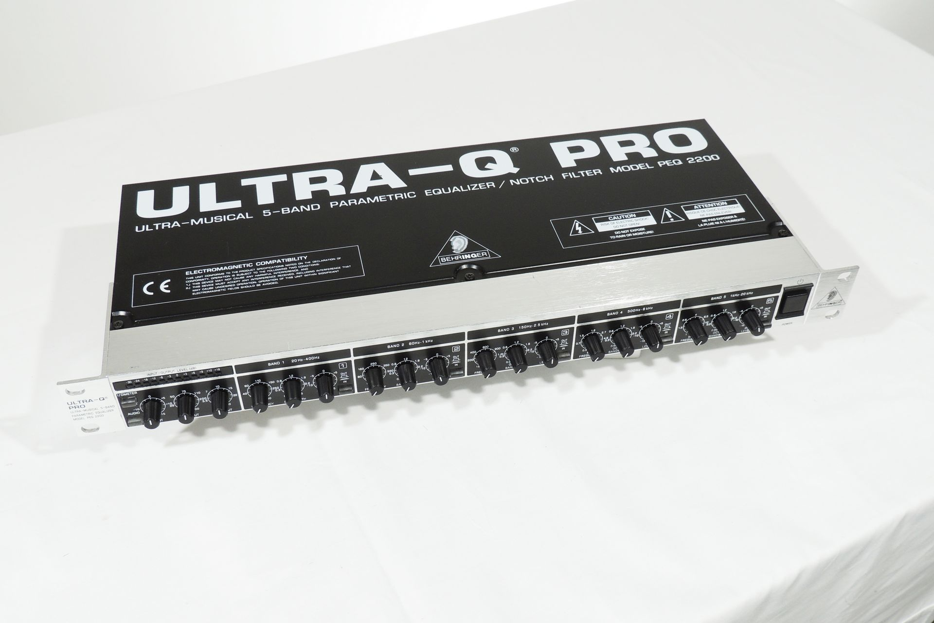 Behringer PEQ2200 Ultra Q Pro 5-band parametric equaliser for sale at Plasma Music