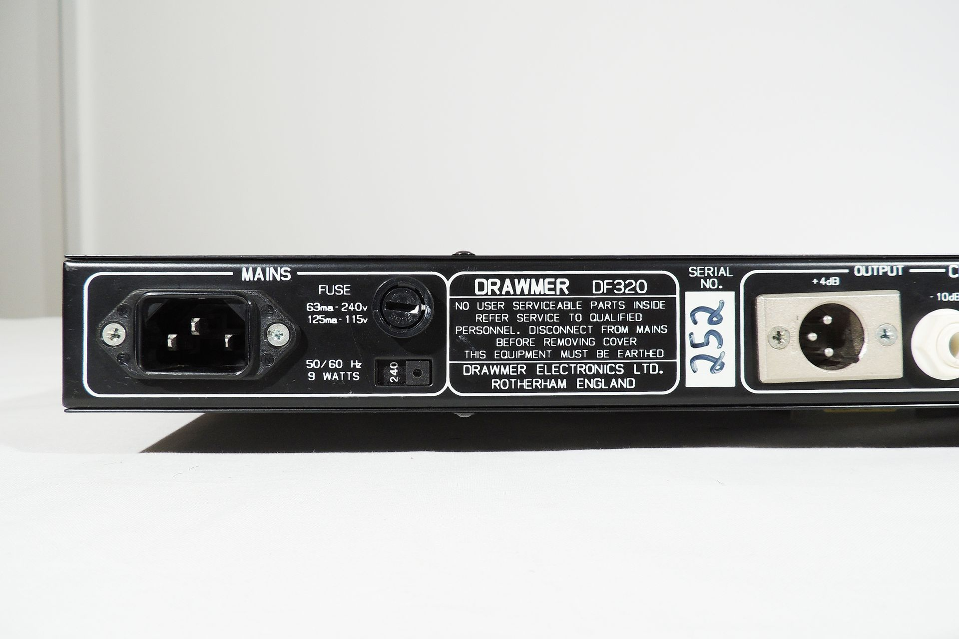 Drawmer DF-320 2-channel noise reduction system for sale at Plasma Music