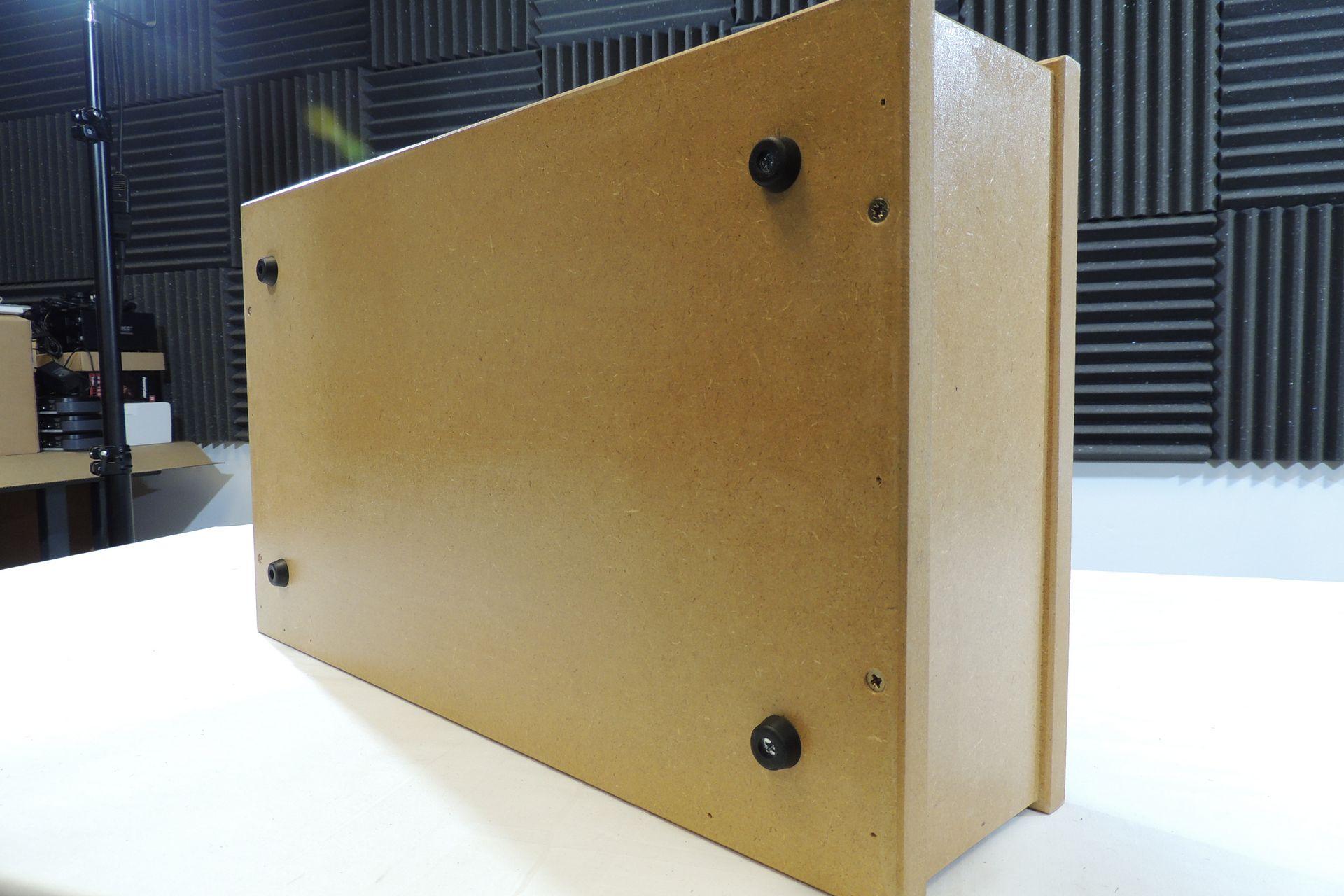 MDF 2U 300mm desktop rack case for sale at Plasma Music