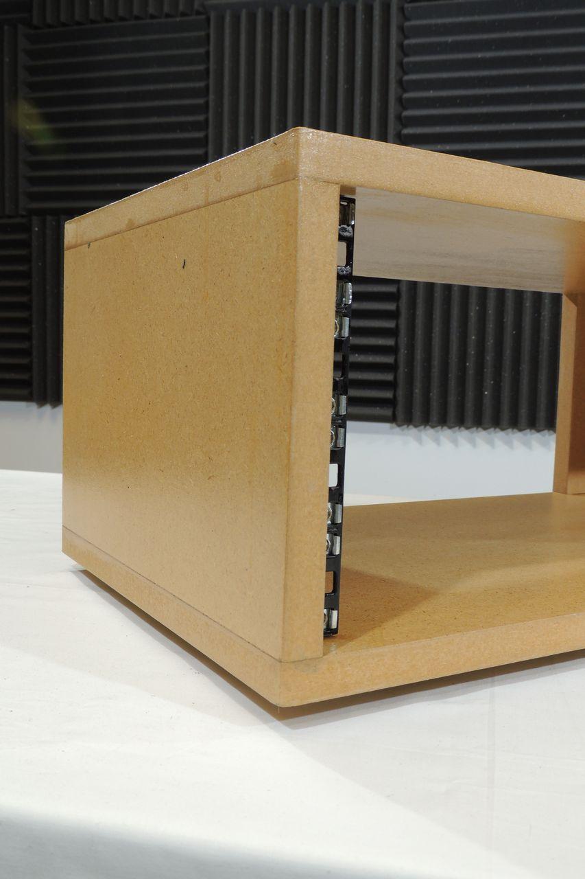 MDF 4U 300mm desktop rack case for sale at Plasma Music