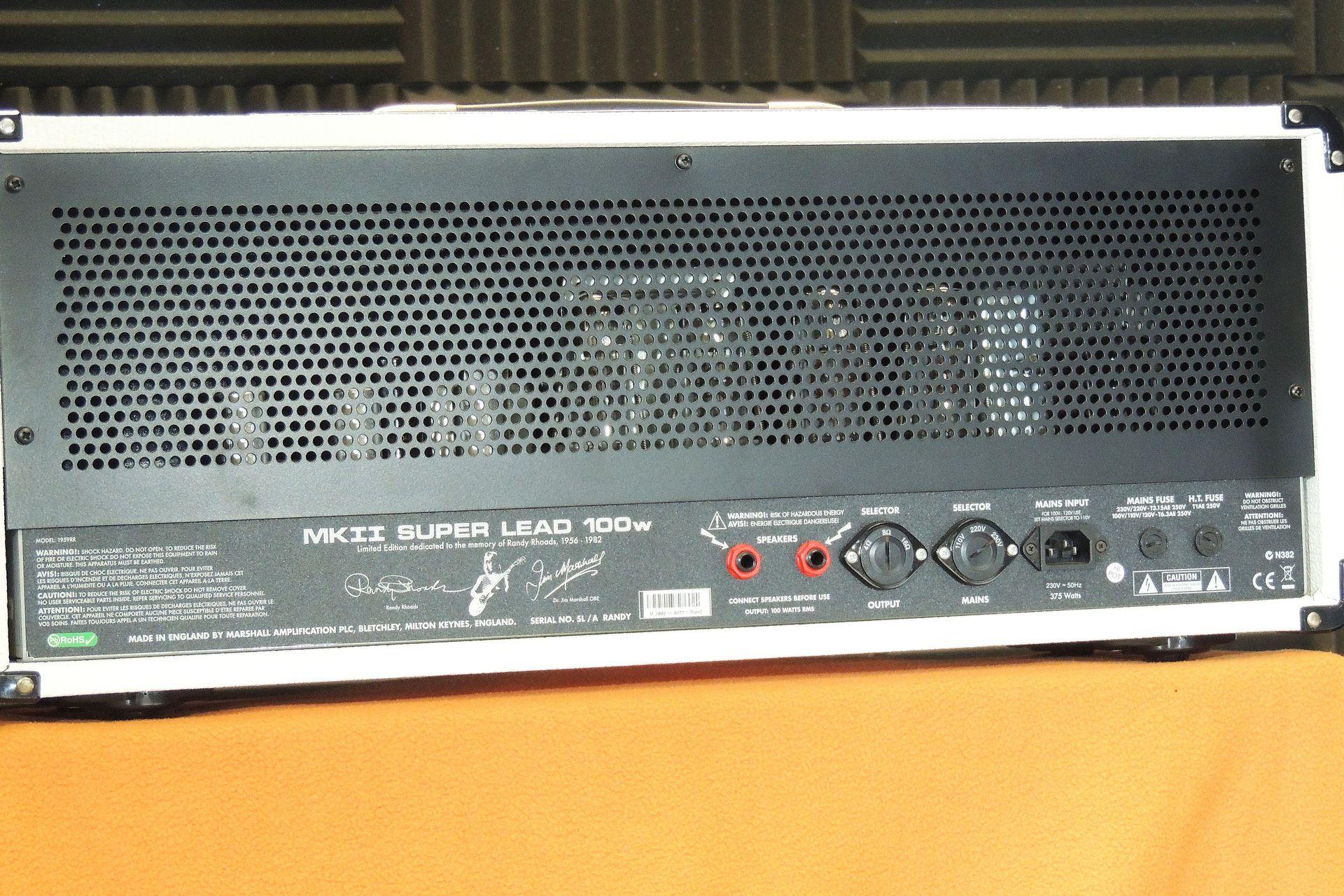 Marshall 1959RR (Randy Rhodes) Signaure Series 100W head for sale at Plasma Music