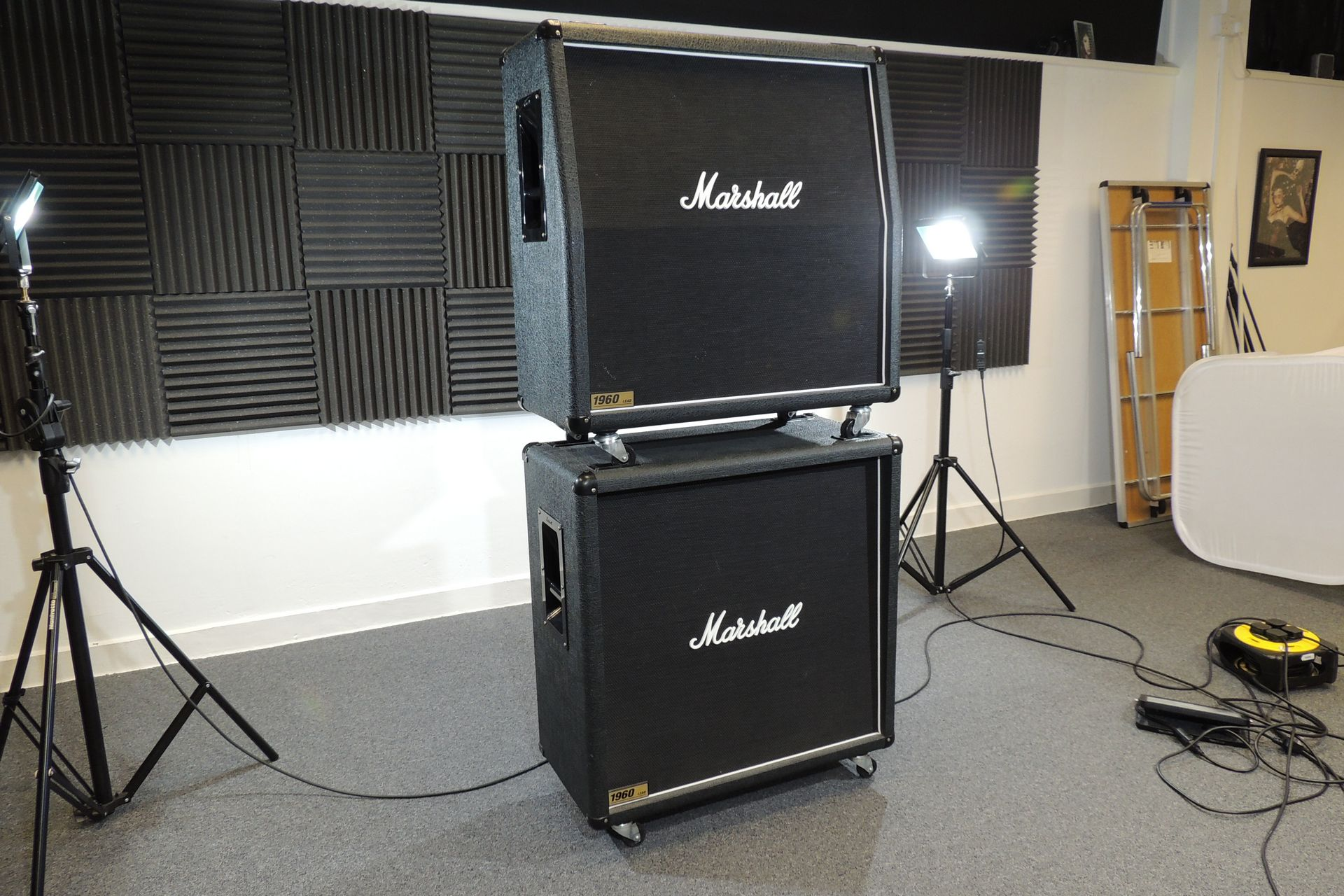 Marshall 1960A and 1960B full stack for sale at Plasma Music