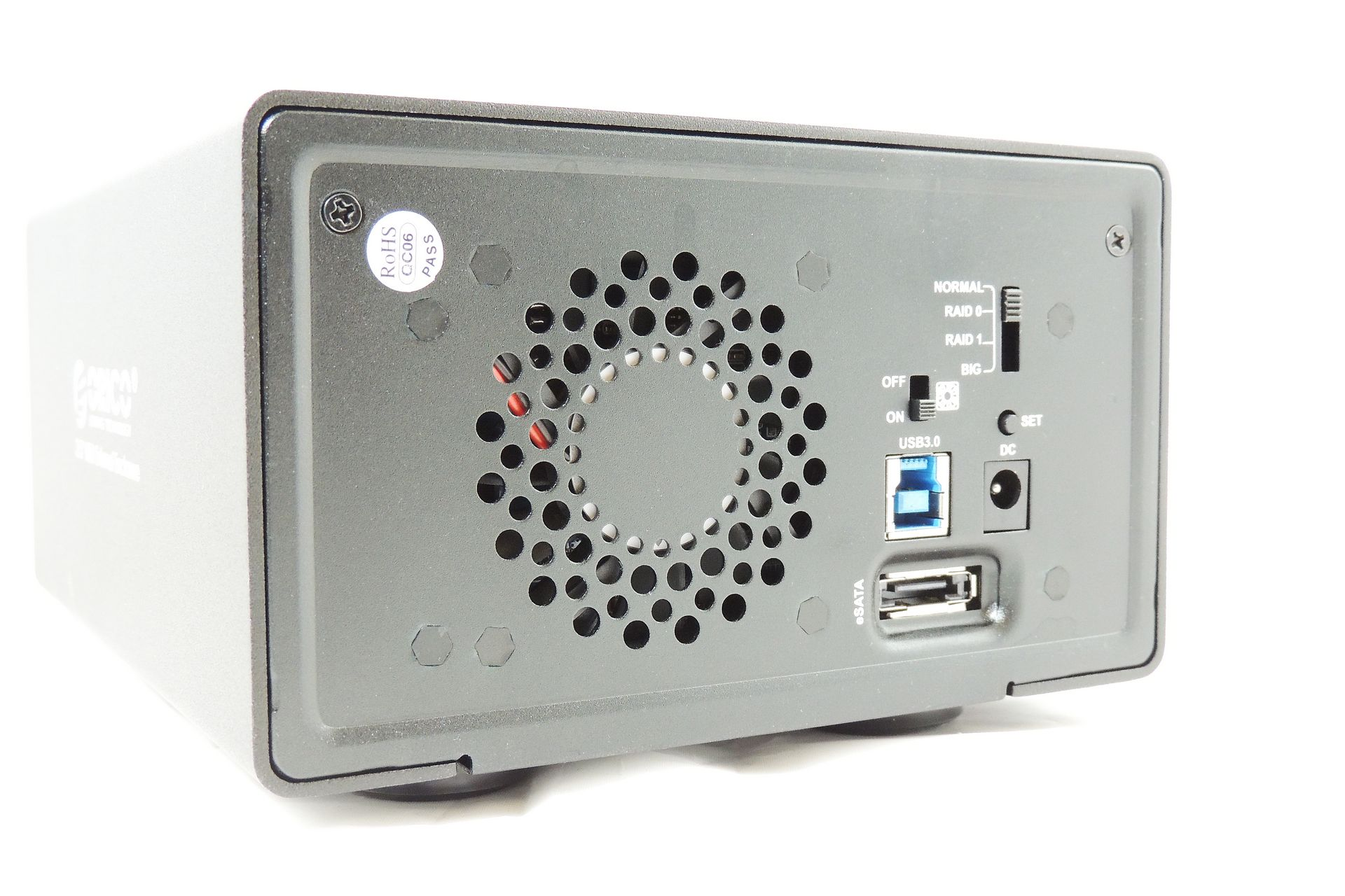 Orico external hard drive enclosure with RAID, USB 3.0 for sale at Plasma Music