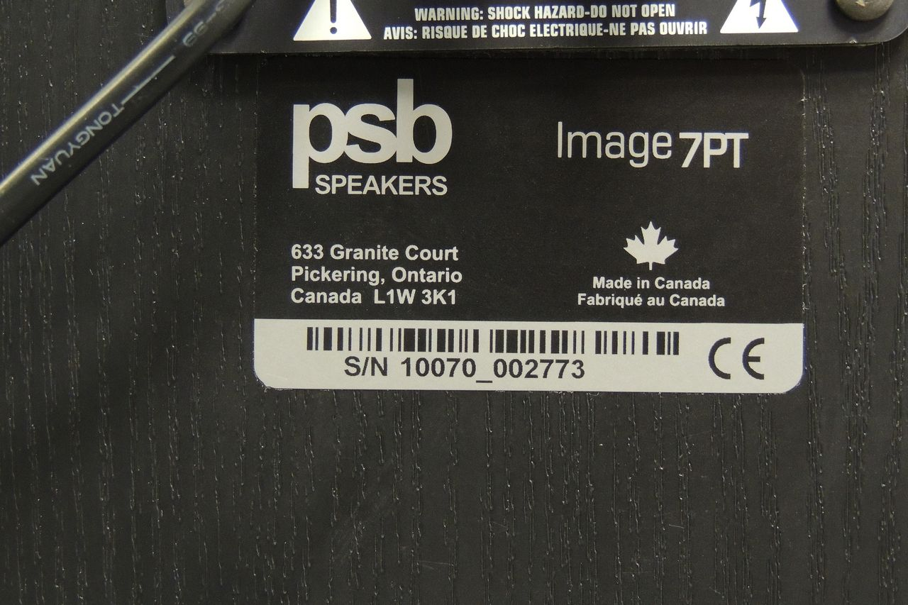 PSB Image 7PT speakers for sale at Plasma Music