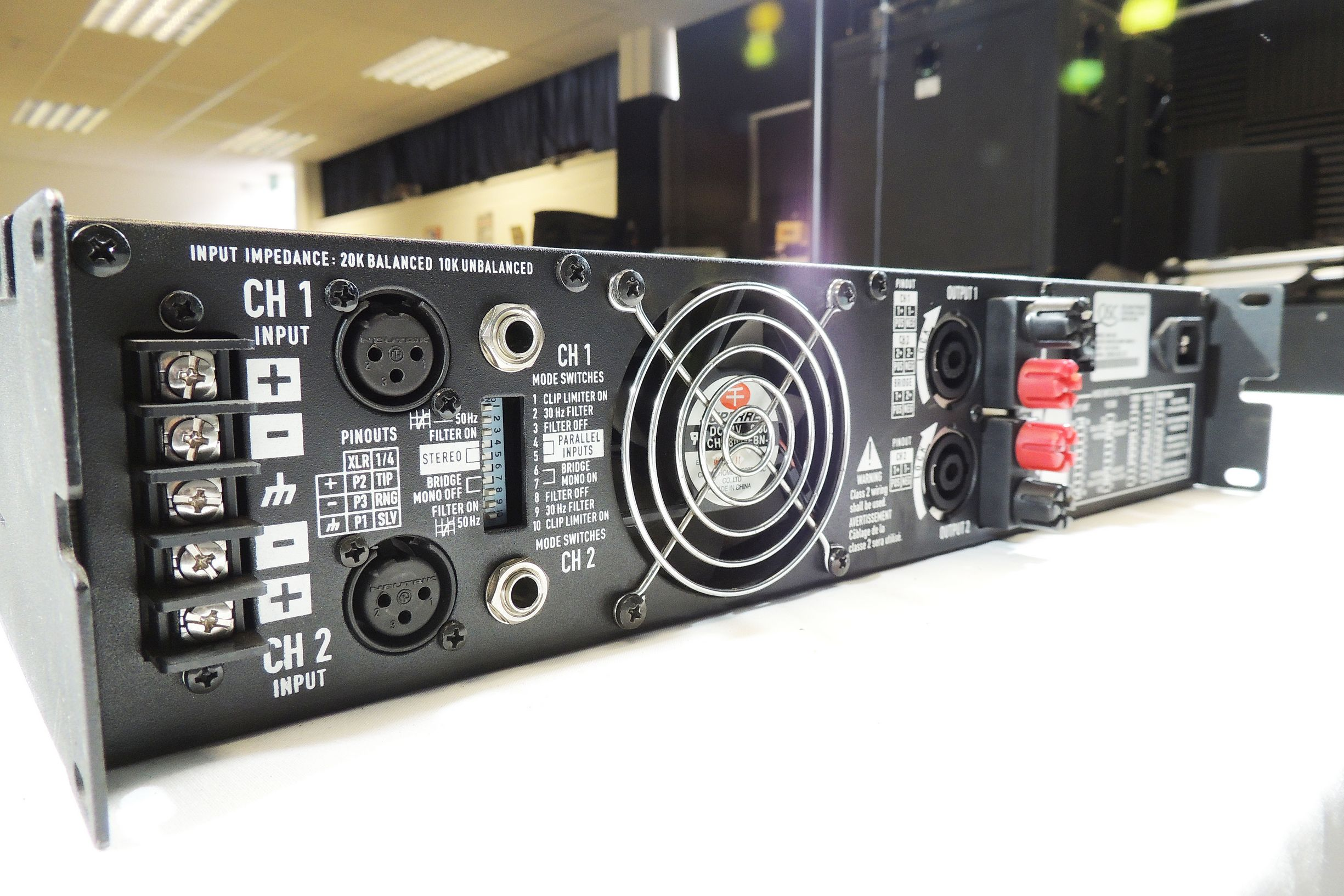 QSC 2450 power amp for sale at Plasma Music