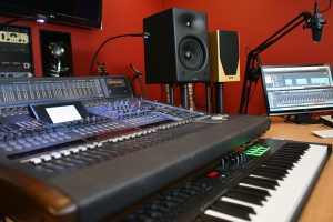 Recording studio control room - part of creative services at Plasma Music Limited
