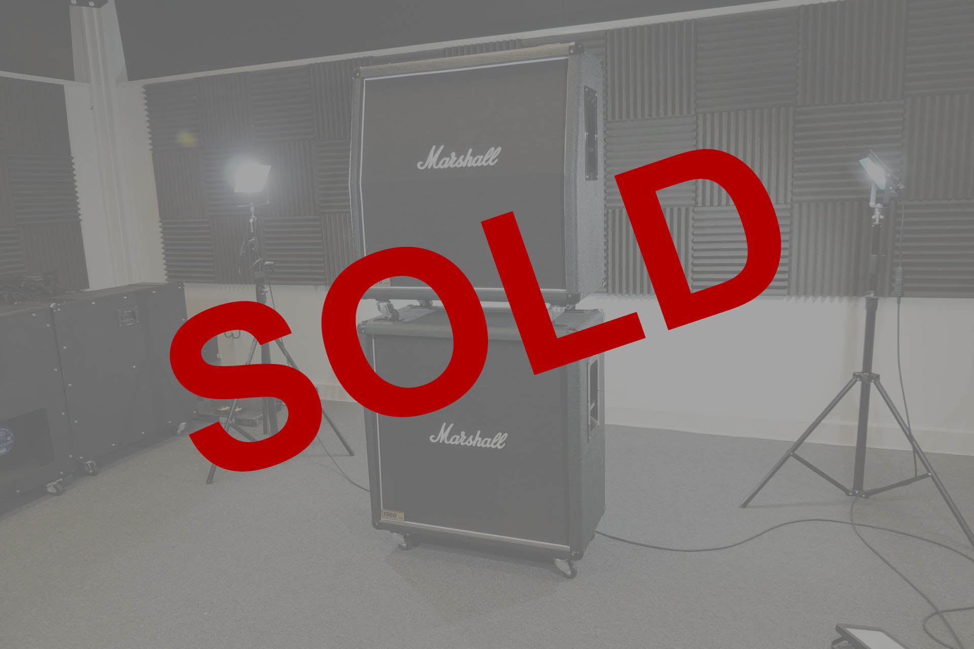Marshall 1960A and 1960B stack sold at Plasma Music