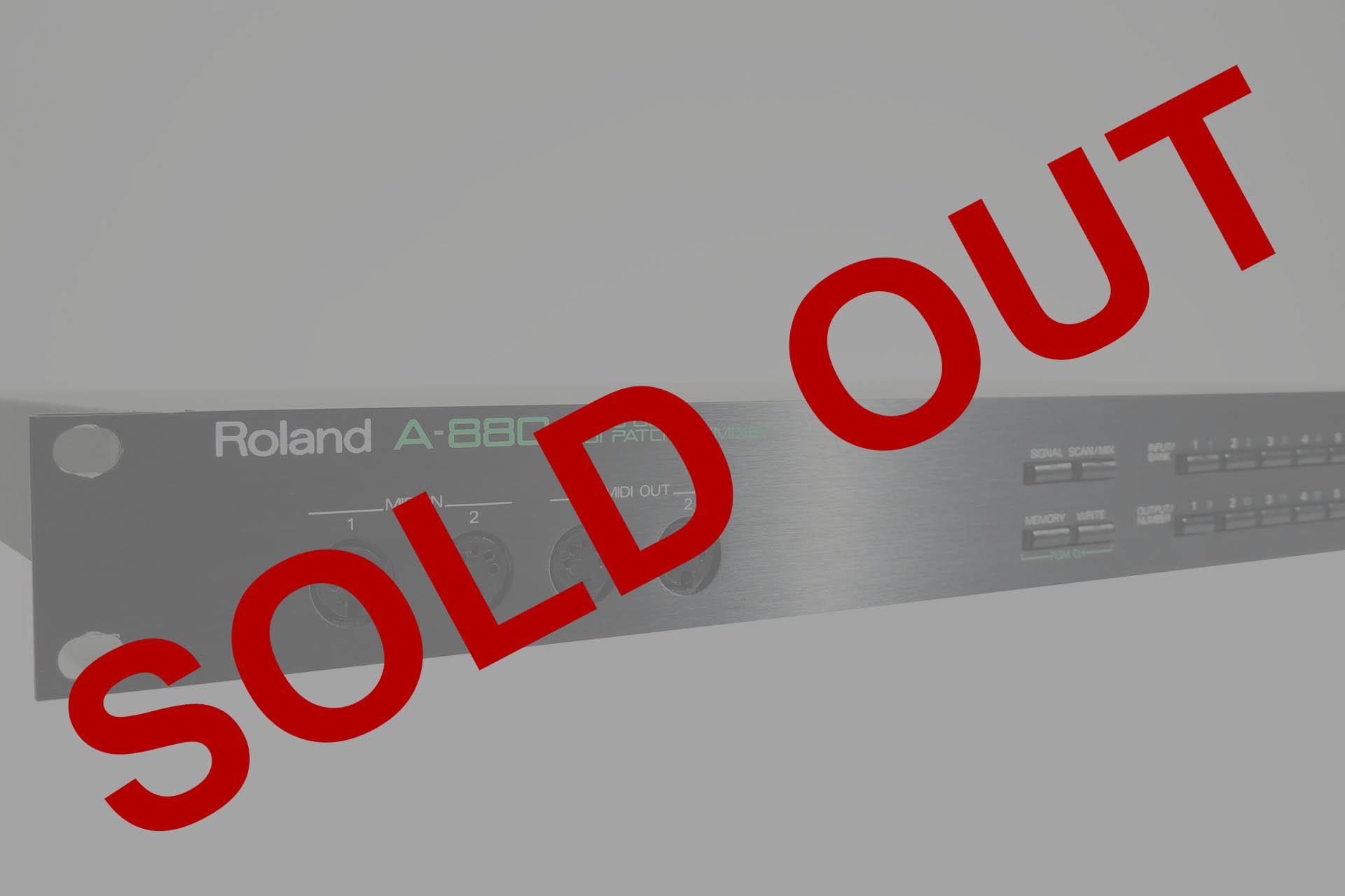 ROLAND A-880 8×8 MIDI PATCHBAY