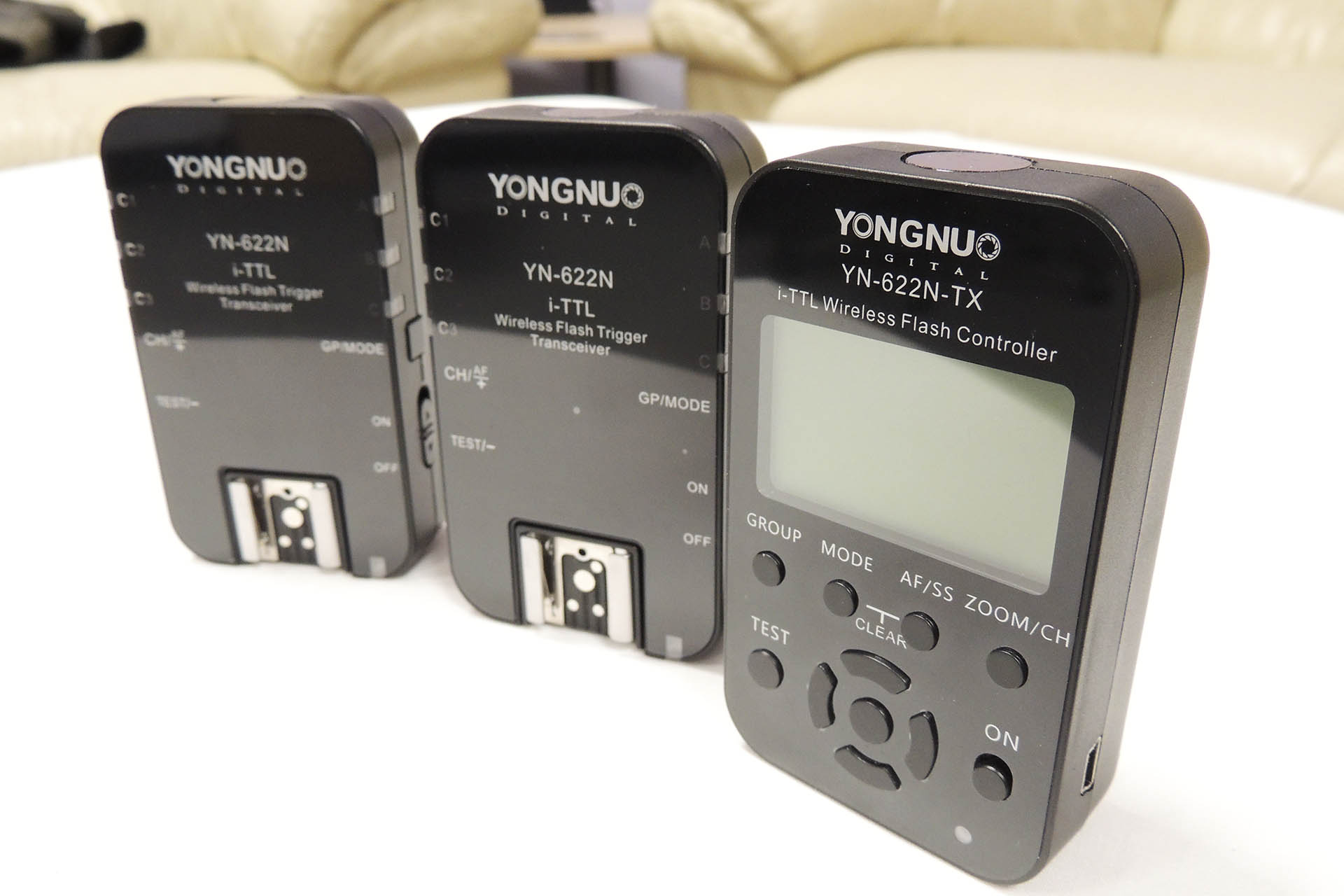 Yongnuo YN-622N-TX and 2 x YN-622N for sale at Plasma Music
